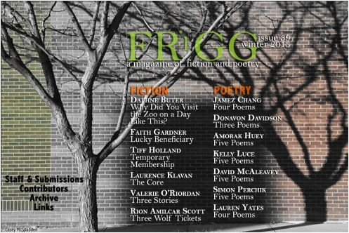 Jamez Chang - 4 Poems Appear in FRiGG