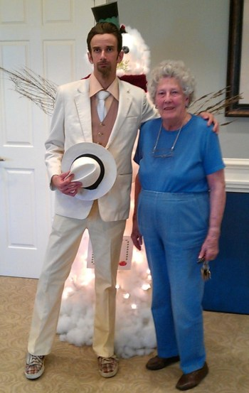 Author Isaac Kirkman Celebrating the Holidays in 2012 with his Grandmother, Anne King McCuen