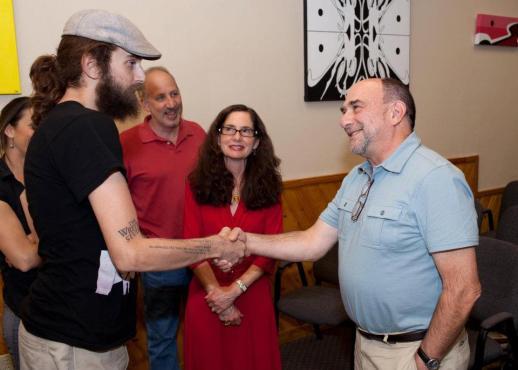 Isaac Kirkman Meets Pulitzer Prize-winning Poet Philip Schultz, founder of the Writers Studio, October 19, 2011