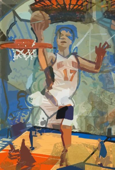 """Jeremy Lin: Day Break"" © Erie Chang; Original Artwork by Erie Chang"