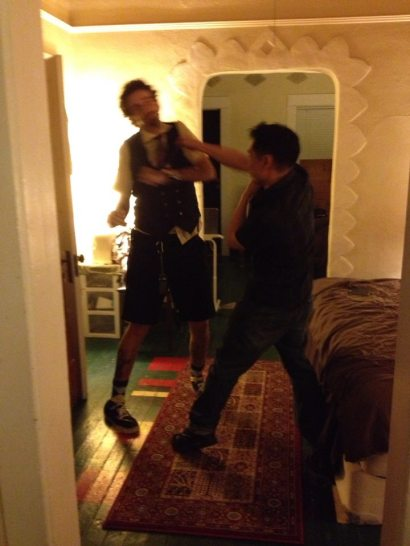 Isaac Kirkman and Jamez Chang duke it out