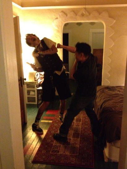 Isaac Kirkman & Jamez Chang duke it out